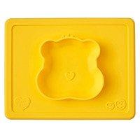 EZPZ - Silikonowa miseczka z podkładką 2w1 Care Bears™ Bowl Misia Słoneczne Serce Funshine Bear, żółta