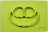 EZPZ - Silikonowy talerzyk z podkładką 2w1 Happy Mat zielony
