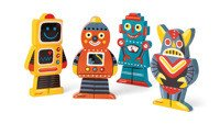 Janod - Magnetyczne klocki 3D Roboty