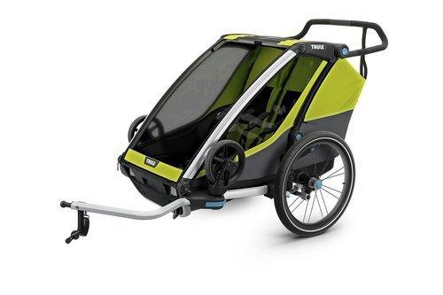 THULE Chariot Cab 2, przyczepka rowerowa dla dziecka - oliwkowy/szary