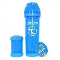 Twistshake - Antykolkowa butelka do karmienia, niebieska 330ml