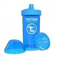 Twistshake - Kubek niekapek z mikserem do owoców, niebieski 360ml
