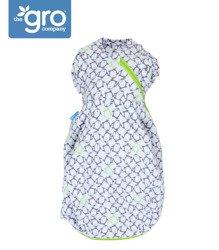 Gro Company - Otulacz - śpiworek Grosnug Penguin Pop Charcoal Cosy, 0-3 miesiące