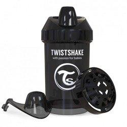 Twistshake - Kubek niekapek z mikserem do owoców, czarny 300ml