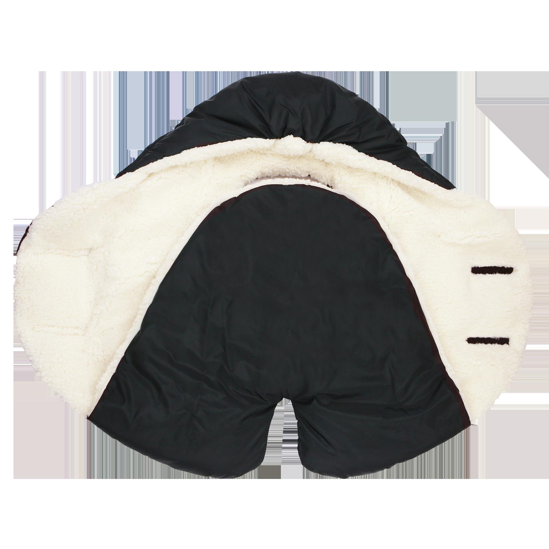 7AM - Śpiworek do wózka i fotelika samochodowego NIDO Cloud Black Cloud S