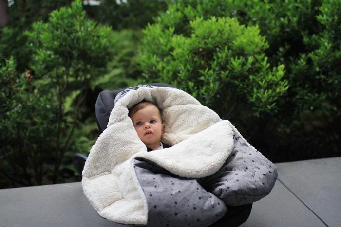 7AM - Śpiworek do wózka i fotelika samochodowego NIDO Cloud Heather Grey S