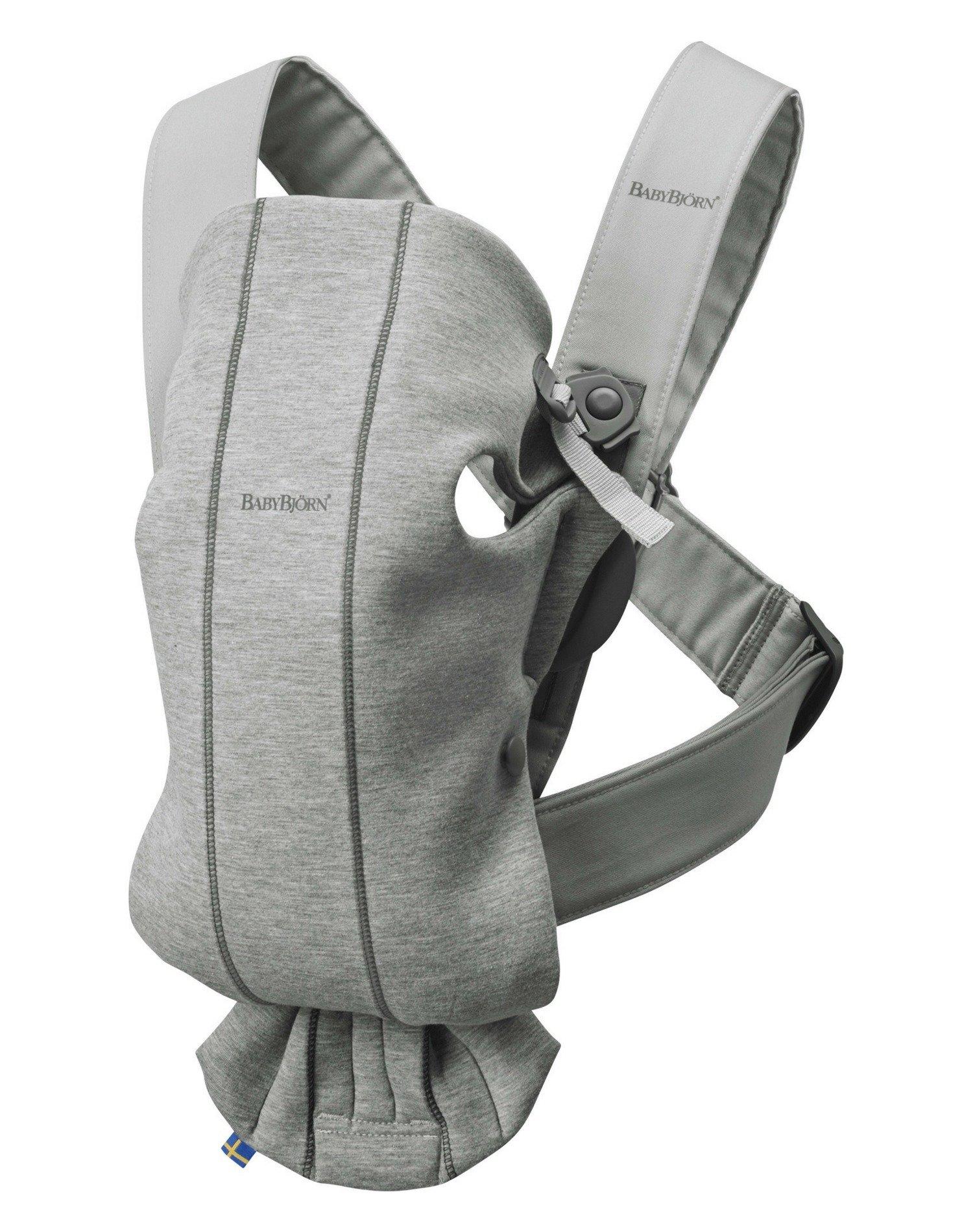 BABYBJORN MINI 3D Jersey – nosidełko, Jasny szary
