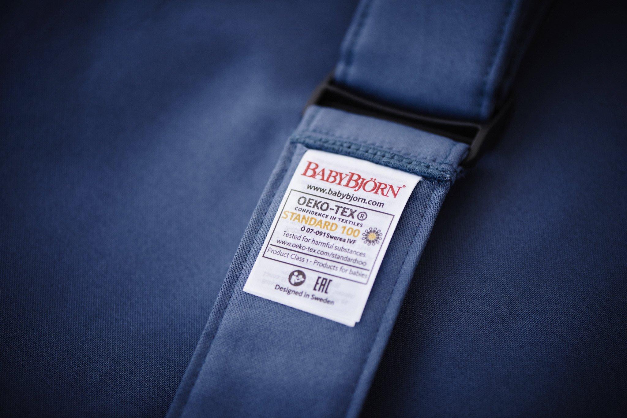 BABYBJORN MINI Cotton – nosidełko, Niebieski