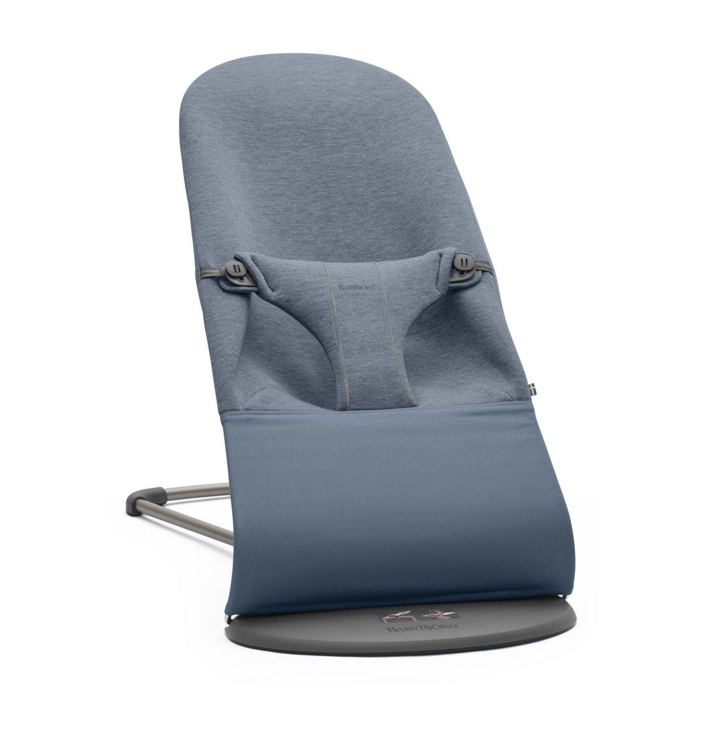 BABYBJORN - leżaczek BLISS 3D Jersey - Niebieski