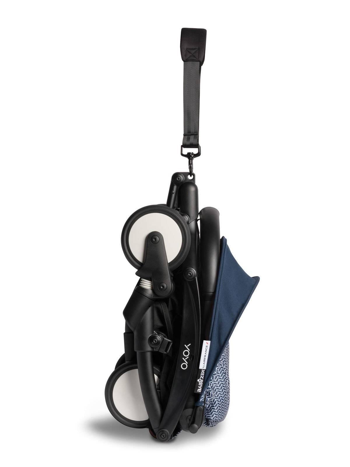 BABYZEN YOYO² - zestaw spacerowy 6+ czarna rama/tapicerka Air France Blue