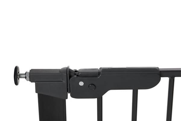 Baby Dan - Bramka ochronna PREMIER + 2 rozszerzenia, czarny