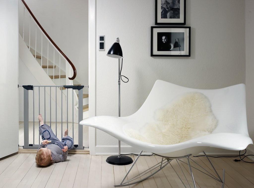 Baby Dan - Bramka ochronna PREMIER + 5 rozszerzeń, srebrny