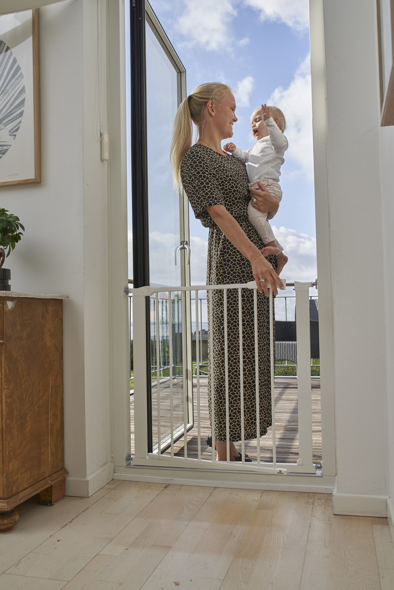 Baby Dan - Bramka ochronna Perfect Close + 1 rozszerzenie