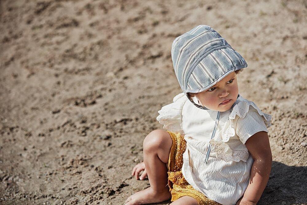 Elodie Details - Czapka Baby Bonnet - Sandy Stripe 3-6 m-cy