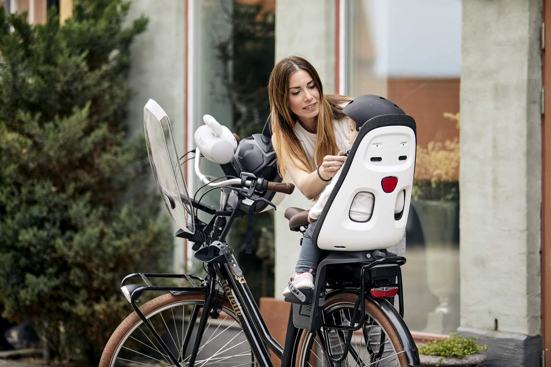 Fotelik rowerowy - THULE Yepp Nexxt Maxi Montowany do ramy - Snow White