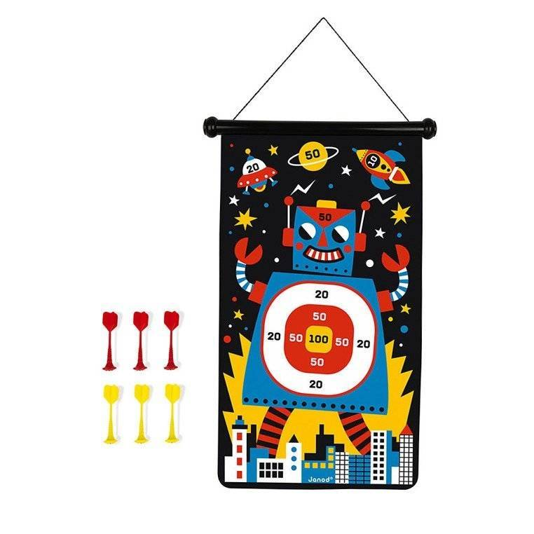 Janod – Magnetyczna gra w rzutki Roboty