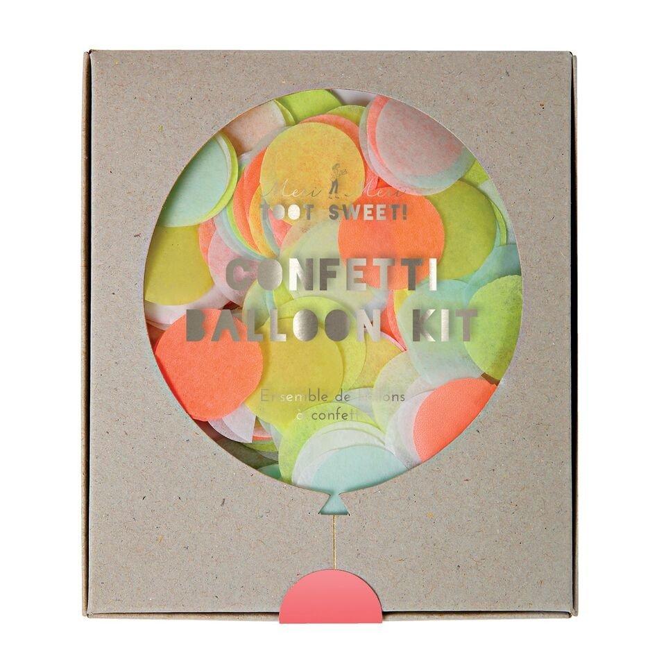 Meri Meri – Zestaw balonów Konfetti neonowe