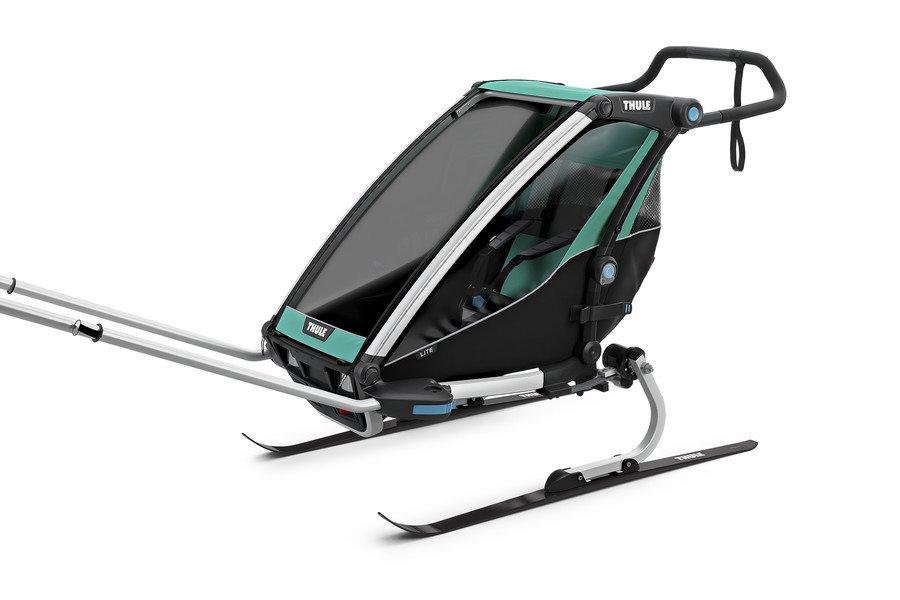 Przyczepka rowerowa dla dziecka - THULE Chariot Lite 1 - morska/czarna