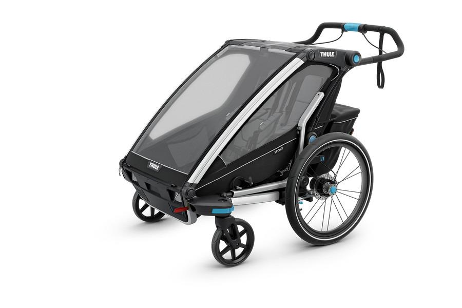 Przyczepka rowerowa dla dziecka - THULE Chariot Sport 2 - Czarna