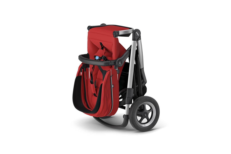 Thule Sleek Energy Red rama + siedzisko spacerowe