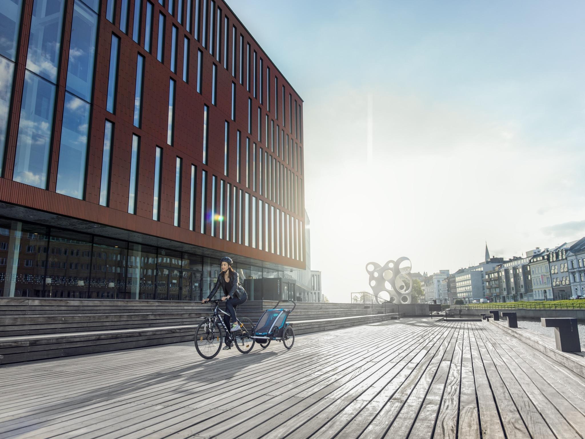 Wózek do biegania - THULE Chariot Sport 1 - zielony/niebieski
