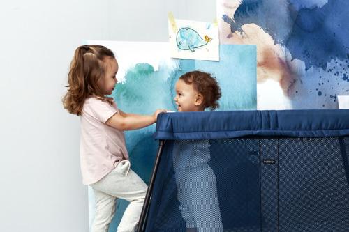 BABYBJORN - łóżko składane LIGHT - ciemnoniebieski