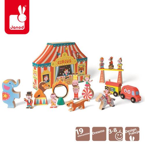 Janod - Cyrk zestaw drewniany Story Box