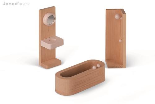 Janod - Domek dla lalek z mebelkami