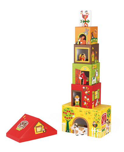 Janod - Piramida wieża ze zwierzątkami Farma