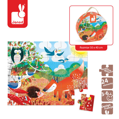 Janod - Puzzle w walizce Las