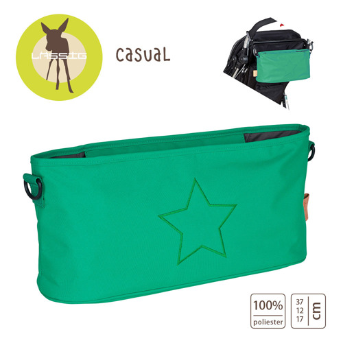 Lassig - Casual Label Organizer do Wózka Star deep green