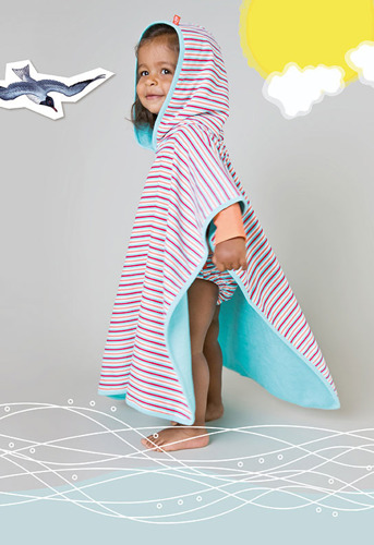 Lassig - Ręcznik Poncho Small stripes
