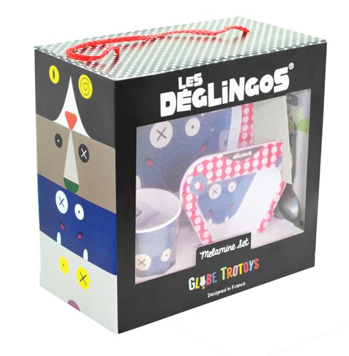 Les Deglingos - Zestaw z melaminy Hipopotam Hippipios