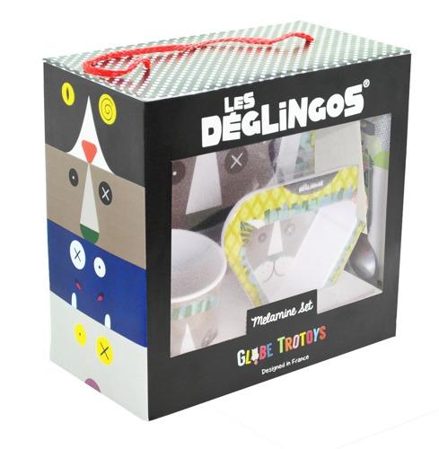 Les Deglingos - Zestaw z melaminy Lew Jelekros