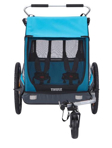 Przyczepka rowerowa dla dziecka, podwójna - THULE Coaster XT - niebieska