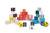 Janod - Klocki drewniane Kubix litery i cyferki 40 sztuk