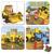 Janod - Puzzle 4w1 Koparka Marka